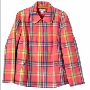 Chelsea Studio plaid pastel jacket blazer size 14